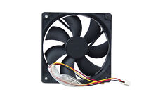 "FD122025 4.72""x4.72"" 120mm Computer PC Case Fan with 3-Pin/4-Pin Connector Black"
