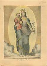 Madonna Madone au Lys Vierge à l'Enfant Jesus Virgin France 1906 ILLUSTRATION