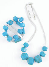 KENNETH COLE New York 'Urban Naturals' Faux Turquoise Bead Necklace Bracelet Set