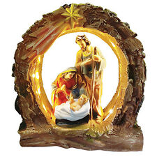 Holy Family with Light Religious Decoration Gift