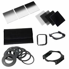 Complete ND 2 4 8 16 Filter Kit for Cokin P+Square Filter Holder + Adapter+Hood