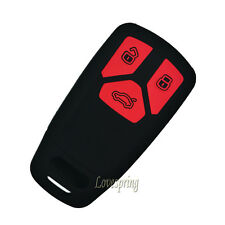 3 Buttons Key Fob Remote Cover Case Skin Holder For Audi 2016 TT A4 2017 Q7 TTS