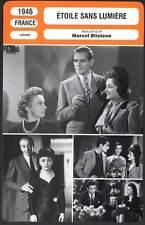ETOILE SANS LUMIERE - Piaf,Berry,Montand(Fiche Cinéma) 1946 - Star Without Light