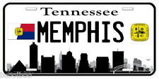 Memphis Tennessee B&W Novelty Car Tag License Plate