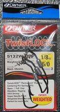 Owner 5132W-025 WEIGHTED TWISTLOCK 3X w/ Centering Pin - Size 5/0 Hook 1/8 oz