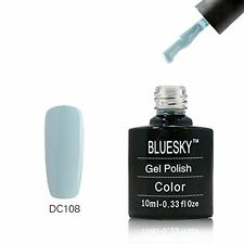 DC108 Bluesky Soak Off UV LED Gel Nail Polish CLEAR DAY LIGHT SKY BLUE