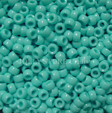 Green Turquoise 7x4mm mini Pony Beads 1000pc USA for crafts school kandi jewelry