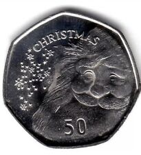 New 50P Christmas Coin Gibraltar 2015 UNC Fifty Pence