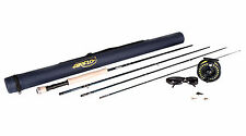 Airflo 10ft 7/8 pêche à la mouche kit rod reel float line fly box & tube lunettes de soleil