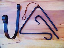 Old Iron Cowboy Western DINNER TRIANGLE calling bell chuck wagon Decor