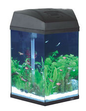 Fish 'R' Fun Aquarium Fish Tank Hexagonal Aquarium Black 21.6L