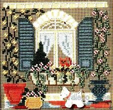 """Mill Hill Buttons and Beads Cross Stitch Kit 5"""" x 5"""" ~ WINDOW FRIENDS #14-6106"""