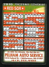 2010 Boston Red Sox Magnet Schedule