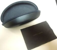 NEW-(2) GIORGIO ARMANI NAVY OPTICAL CASES WITH CLEANING CLOTH  $8.50 Free Ship