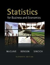 Statistics For Business And Economics  James McClave George Benson Sincich 11th