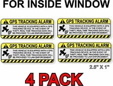 GPS Anti Theft STICKER, INSIDE WINDOW, Vehicle Security Decal for Car Alarm