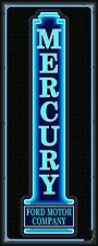 MERCURY CAR SALES AUTO DEALER NEON STYLE PRINTED BANNER SIGN GARAGE ART 2' X 5'