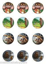 12 x GRUFFALO MIXED EDIBLE RICE PAPER CAKE TOPPERS