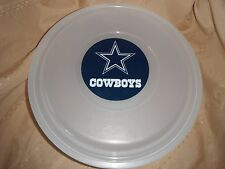 nfl cowboys large plastic cookie keeper,  Food Server Storage Tailgate Food Dish