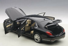 Autoart MERCEDES BENZ MAYBACH S-KLASSE S600 Black 1/18 Scale New! In Stock!
