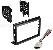 DOUBLE DIN STEREO INSTALL DASH KIT W/ WIRE HARNESS FOR FORD LINCOLN MERCURY CARS