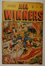 All-Winners Comics #13 (Fall 1944, Marvel) Captain American, Human Torch WWII