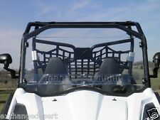 STANDARD Vented Clear LEXAN WINDSHIELD + Std Clamps ~ CF MOTO ZForce 800 ~ UTV