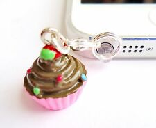 CUPCAKE cell phone Charm Dust proof Plug ear jack For iPhone smartphone C129