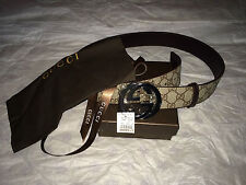 Gucci Belt Interlocking G Buckle Leather Size 32-34