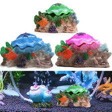 Decoration Aquarium Fish Tank Air Bubble Scallop Shell Ornaments Aeration Pump