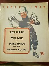 1934 Tulane vs Colgate football program
