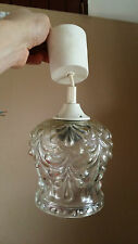 Lustre Suspension Vintage Verre Globe Style Art Deco 1970 Fench Chandelier  n° 2