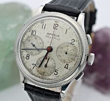 Circa 1940's BENRUS Sky Chief Chronograph Model GH4 Valjoux 71 S.S. 38mm Watch