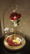 Beauty and the Beast Rose Light Bell Disney Lamp Light Night mothers day gift