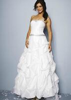BNWT Ivory Parachute Embellished Wedding Dress NICHOLAS MILLINGTON-UK 12 RRP£499