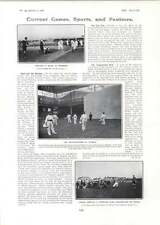 1906 Pelota Players Olympia England Play Wales At Richmond