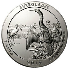 2014 25c 5 oz. Silver America the Beautiful Everglades NP ATB Coin SKU32790