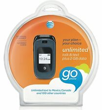 NEW ZTE Z222 AT&T GoPhone Prepaid No-Contract Phone w/ Sim card  and kit