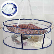 Drying Rack Folding Hanging Clothes Laundry Sweater Basket Dryer Net 2 layers