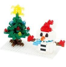 Kawada Nanoblock NBC_100 Snowman&X`mas Tree 180pcs