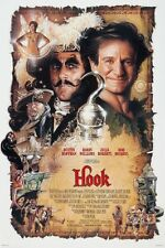 Hook movie poster : 11 x 17 inches - Peter Pan poster, Robin Williams poster