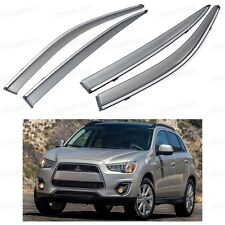 4x Front & Rear Window Visor Vent Shade for Mitsubishi Outlander Sport 2011-2016