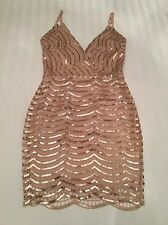 Boutique Celeb Rose Gold Sequin Mini Dress BNWT 8