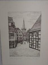 Steindruck Unna Hertinger Straße Lithographie orig. Radierung M. Bloch (2514)