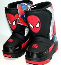 ULTIMATE SPIDER-MAN WINTER BOOTS SHOES TODDLER BOYS SZ 5 BLACK/RED SPIDERMAN