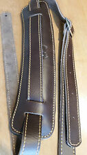 Soldier 2002 EXTRA HEAVY DUTY LEATHER guitar strap (brown)! FREE USA SHIPPING!