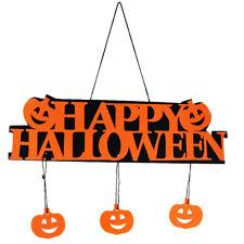 Happy Halloween Pumpkin Pendant Door Decors Hanging Party Decoration Banner