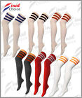 New Ladies Referee Socks Thigh High Girls Over The Knee LOT OF Socks UK Size 4-6