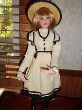 """Jan Mclean  """"Marilou"""" 24"""" tall porcelain doll  Exclusively Yours NIB"""