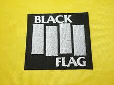 Embroidered Patch Iron Sew Metal Heavy Punk Rock Music Band Black Flag #T47